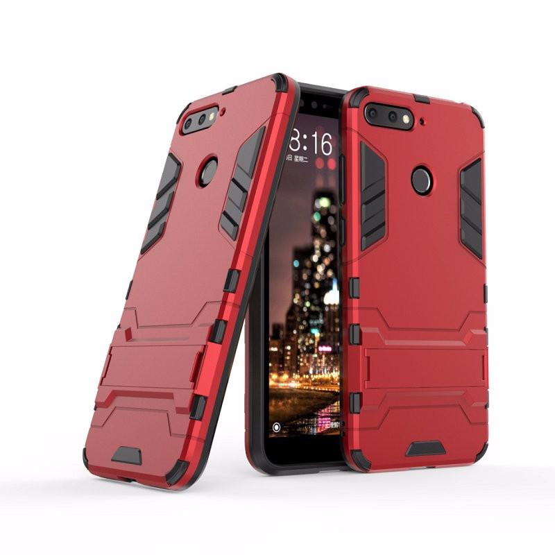 WIERSS красный для Huawei Honor 7A Pro Ударопрочный жесткий чехол для телефона Huawei Honor 7A Pro AUM-L29 AUM-AL00 для чехла Huawei Honor 7A с жестким корпусом для Huawei Honor 7A Pro AUM-L29 AUM-AL00 Combo Armor Case Back Cover
