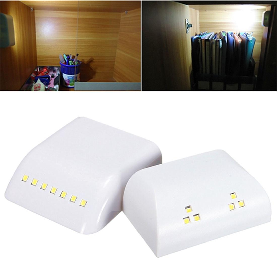 Jiguoor julelys с батарейным питанием беспроводный датчик движения pir светодиодный ночник для шкафа шкаф гардеробная кухонная плита asile toliet night lam