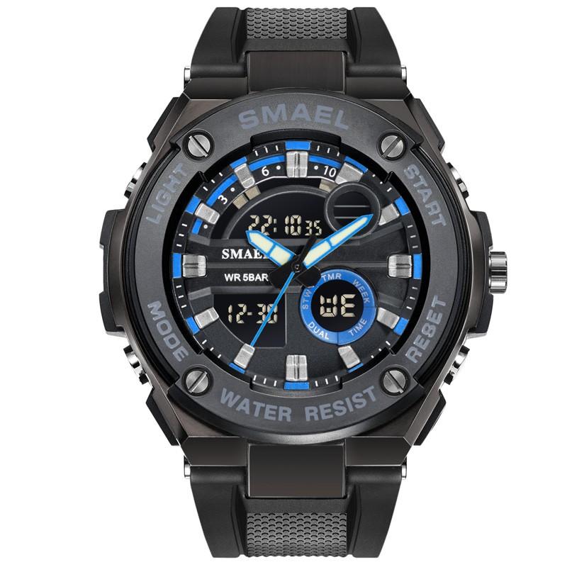 fwm Голубые черные кожаные мужские часы часы esprit часы спортивные