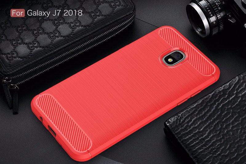 Противоударная крышка для телефона Samsung Galaxy J7 2018 SM-J737 J737A для Samsung Galaxy J7 2018 SM-J737 J737A Противоугонная крышка для телефона Samsung Galaxy J7 2018 SM-J737 J737A Корпус из тонкой брони Задняя крышка WIERSS красный для Samsung Galaxy J7 2018 J737 фото