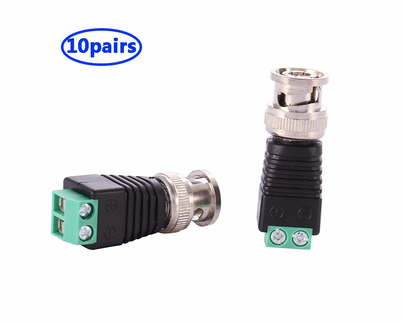 COOLM 10 пар 20pcs lot rca male to bnc female connector adapter coax bnc adaptor plug for cctv camera system
