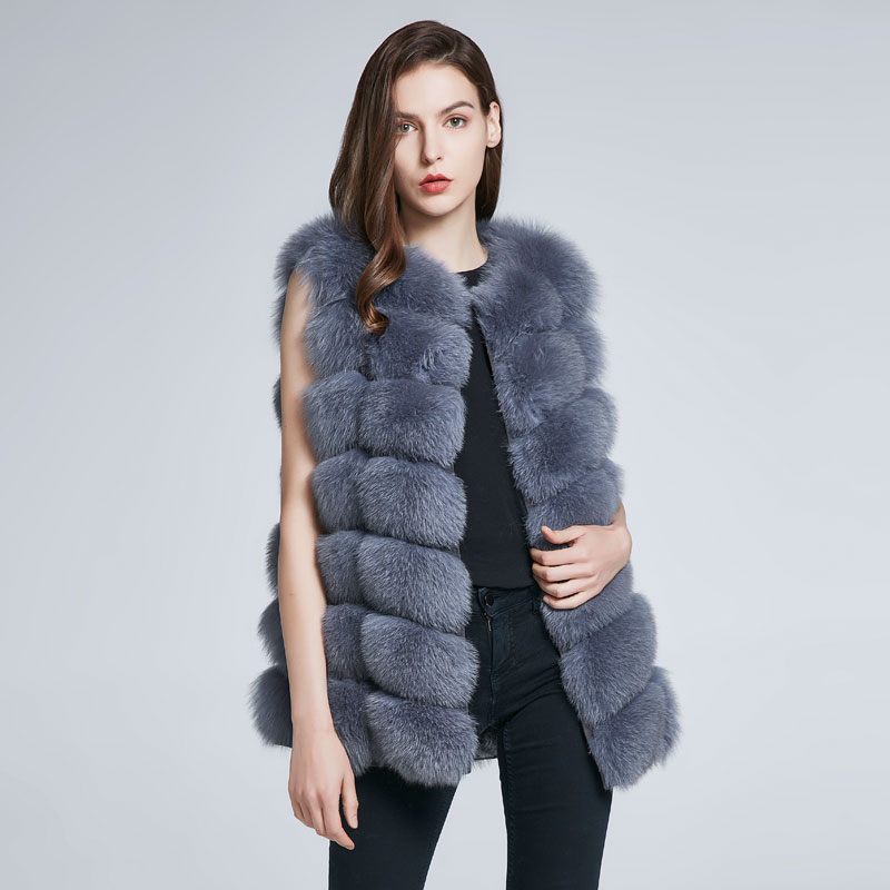 FURART серебро XL children real crystal fox fur coat 2018 new autumn winter girls boys natural fur coat clothing warm kids thicken jacket