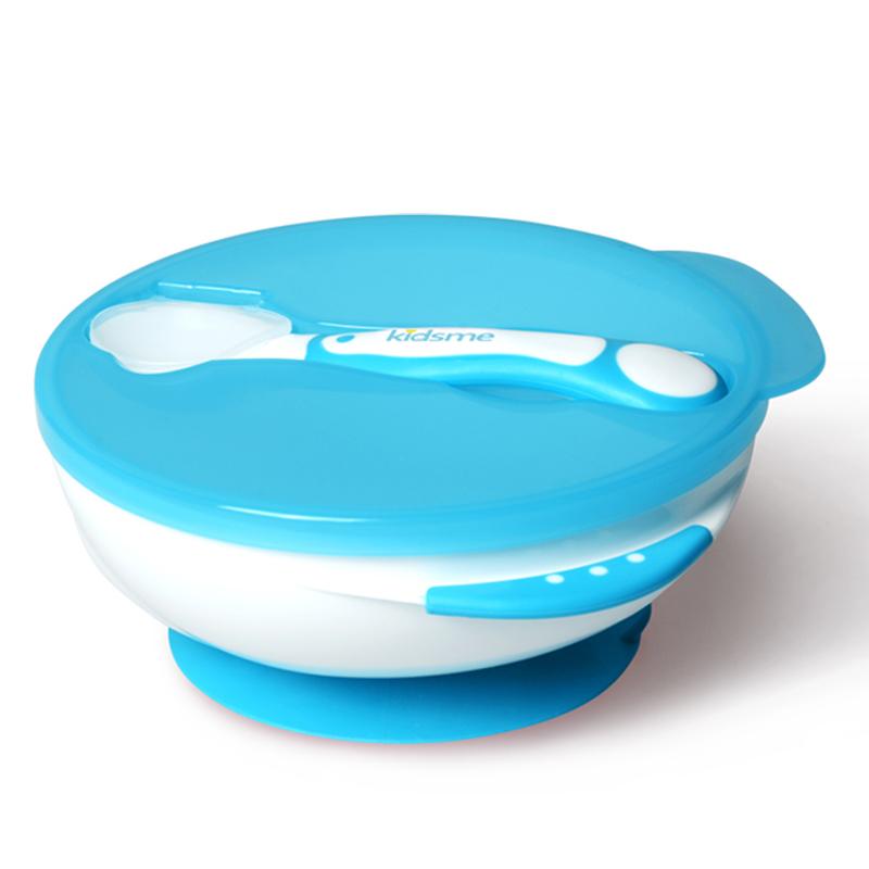 JD Коллекция Sucker миску с ложкой синий дефолт поцелуй меня детские безопасные кусачки для ногтей