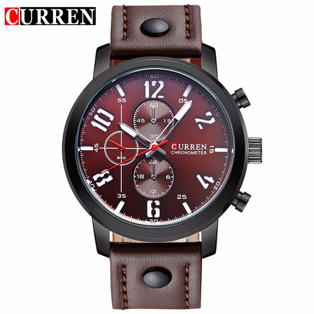 CURREN 05 men curren watches relogio masculino fashion montre homme hombre quartz watch male watch leather wristwatches 8192