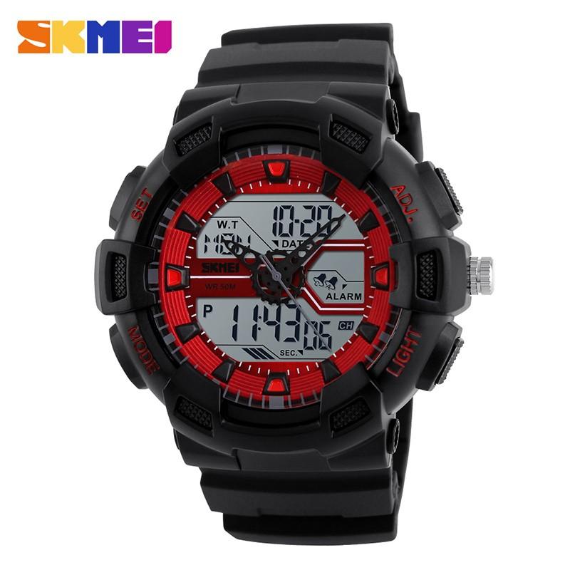 SKMEI Красный skmei спортивные часы кварц желтый 9106