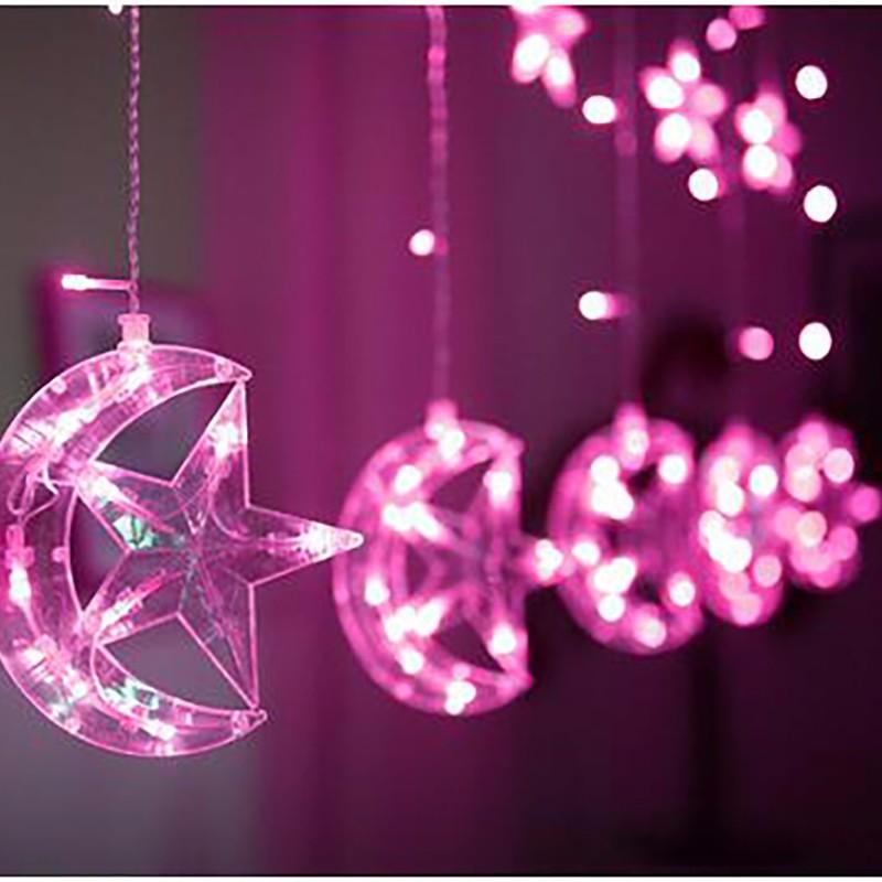 LUOMU красный 220V EU PLUG outdoor wedding christmas led bulb string light led rainbow light waterproof led string 50m 400 led ball ac 220v