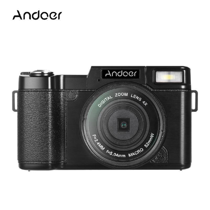 ANDOER черный good selling digital camera with 2 7 tft display 4x digital zoom digital camera free shipping