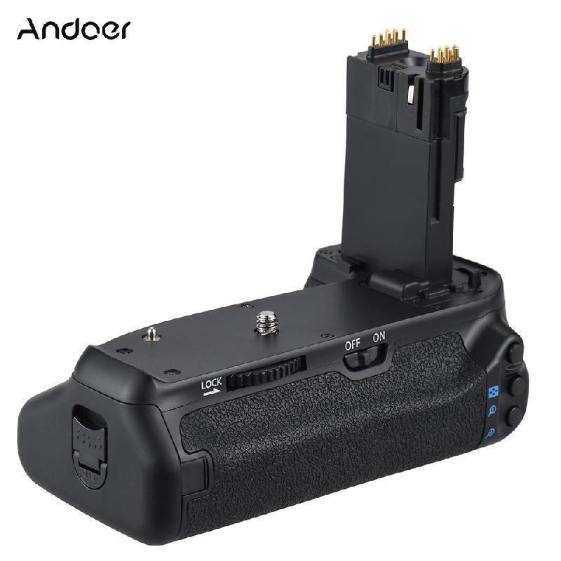 ANDOER черный mcoplus venidice vd 70d vertical battery grip holder with 2pcs lp e6 batteries for canon eos 70d camera as bg e14 as mk 70d