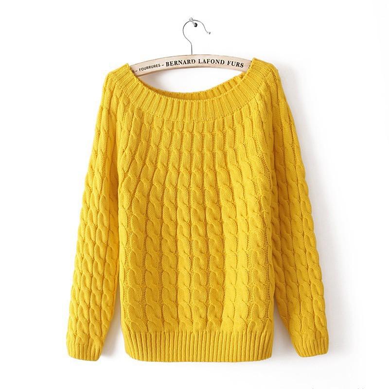 quzihua оранжевый желтый Свободный пуловер mexx джемперы свитера и пуловеры с вырезом