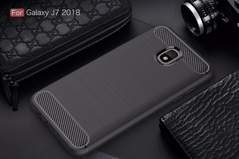 Противоударная крышка для телефона Samsung Galaxy J7 2018 SM-J737 J737A для Samsung Galaxy J7 2018 SM-J737 J737A Противоугонная крышка для телефона Samsung Galaxy J7 2018 SM-J737 J737A Корпус из тонкой брони Задняя крышка WIERSS черный для Samsung Galaxy J7 2018 J737 фото