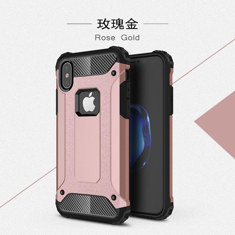 goowiiz Розовое золото iphone 78 skid proof drop proof tpu bumper with pc back panel for iphone 7 black