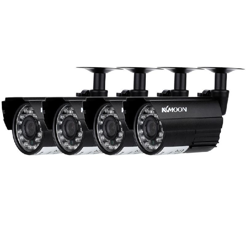 dodocool Black Стандарт США 4 channel cctv camera system kit weatherproof 3 array ir camera