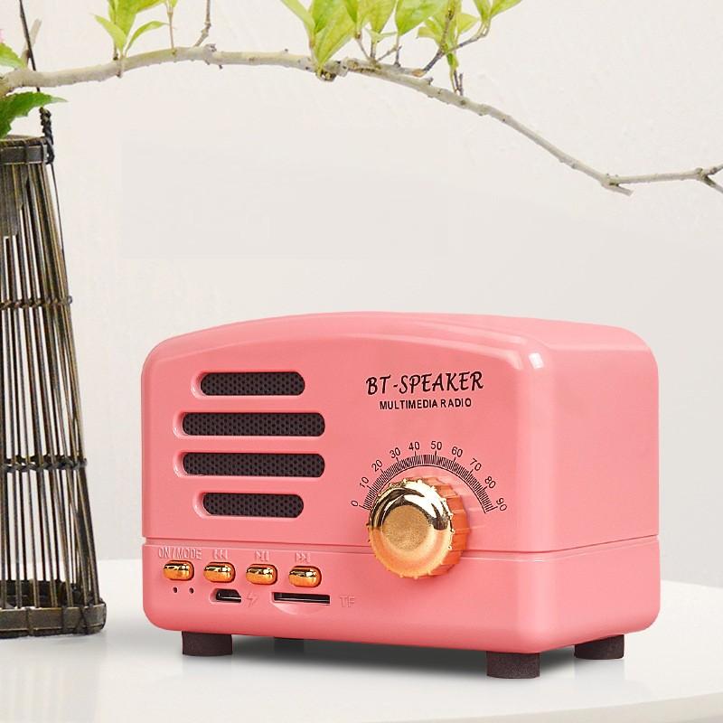 Ретро подарок ретро динамик ретро bluetooth динамик ретро bluetooth 41 динамик JYSS Розовый цвет фото