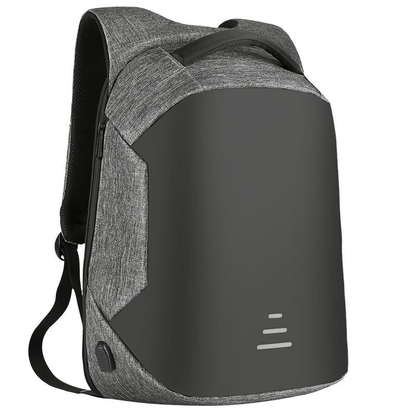 Мужские рюкзаки Противоугонные Водонепроницаемый USB Зарядка Дизайн Ноутбук Рюкзак CAROLING ANGEL Серый 32 20 49см фото