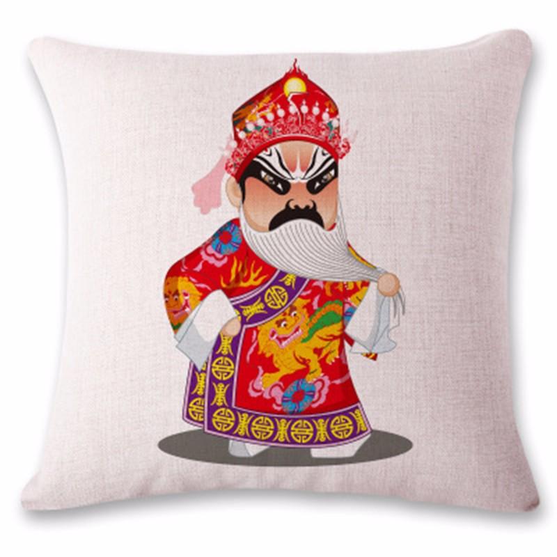 kangfeng Синий цвет snowman cartoon christmas cushion throw pillow case