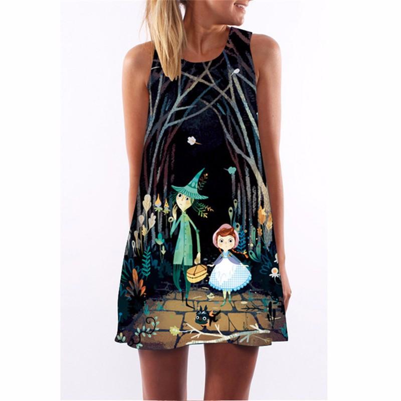 Платье женщин платье летнее платье SAKAZY Смешанный цвет XL фото