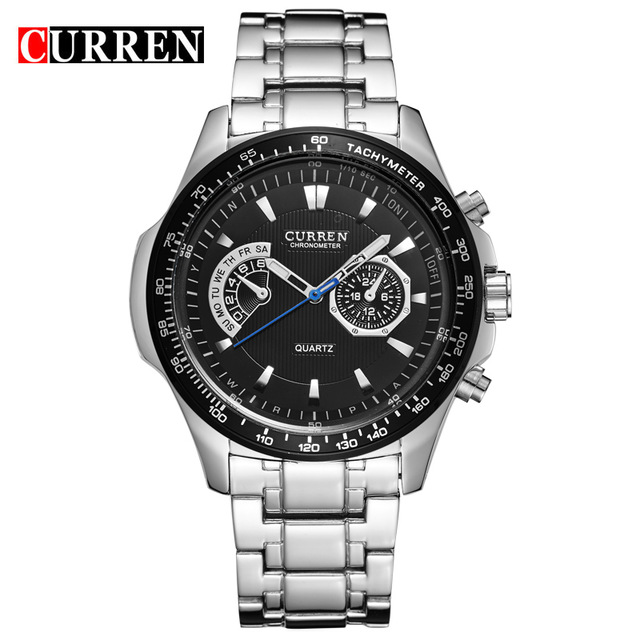 CURREN 03 curren quartz black vogue business military man men s watches 3atm waterproof dropship 8020 relogio
