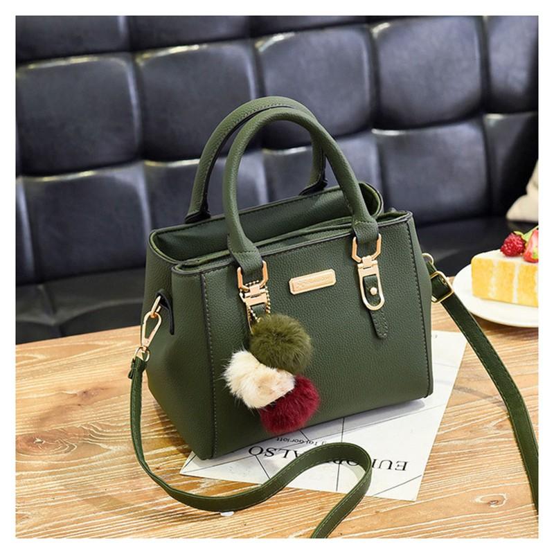 SMOOZA зеленый средний горячие корейской леди женщины хобо кожа pu посланника плеча сумки totes кошелек