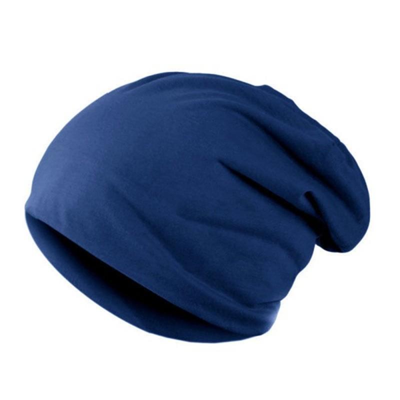 CXSHOWE Синий new unisex knitting beanie hat two sided warmed winter casual sports cap