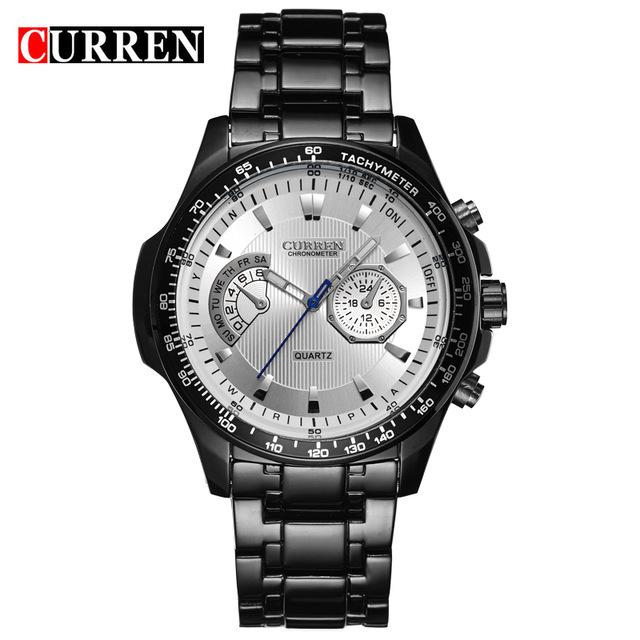 CURREN 02 curren quartz black vogue business military man men s watches 3atm waterproof dropship 8020 relogio