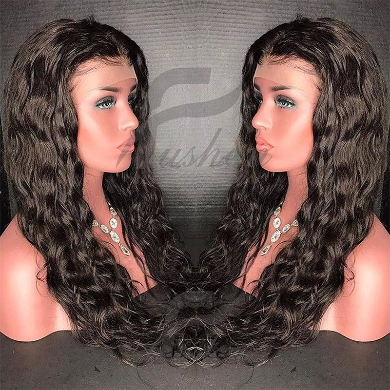 bluebell 1B 20 дюймов 130 density body wave glueless full lace human hair wigs brazilian virgin hair free part for black women