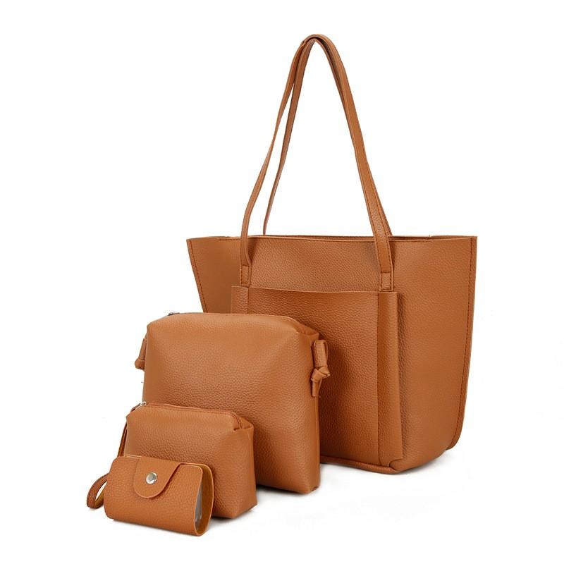 SMOOZA Коричневый Большой женщины кожа pu плеча tote сумки хо��о сумки сумка сумка кошелек