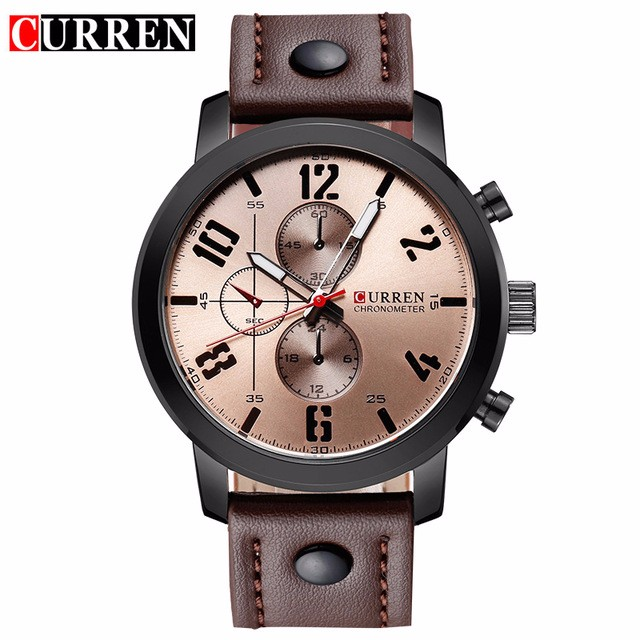 CURREN 06 men curren watches relogio masculino fashion montre homme hombre quartz watch male watch leather wristwatches 8192