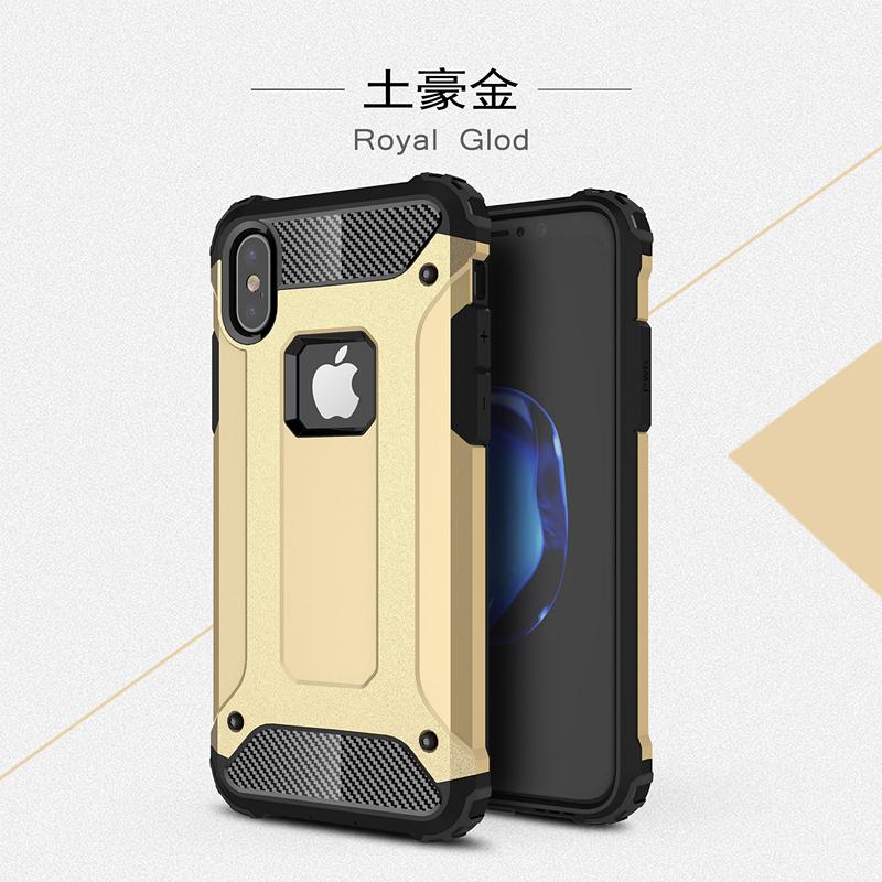 goowiiz Золото iPhone X skid proof drop proof tpu bumper with pc back panel for iphone 7 black