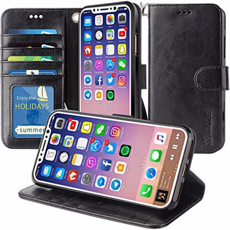 Oak Leaf Black iPhone X