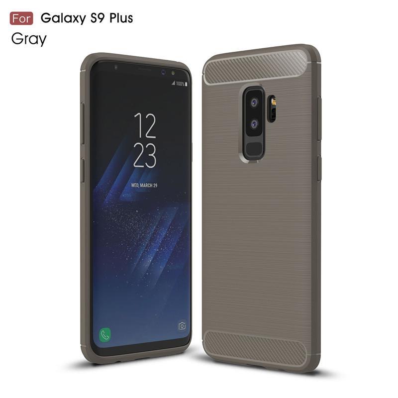 KYKEO Серый Samsung Galaxy S9 Plus Carbon Fiber Phone Case For Samsung Galaxy S9 Plus