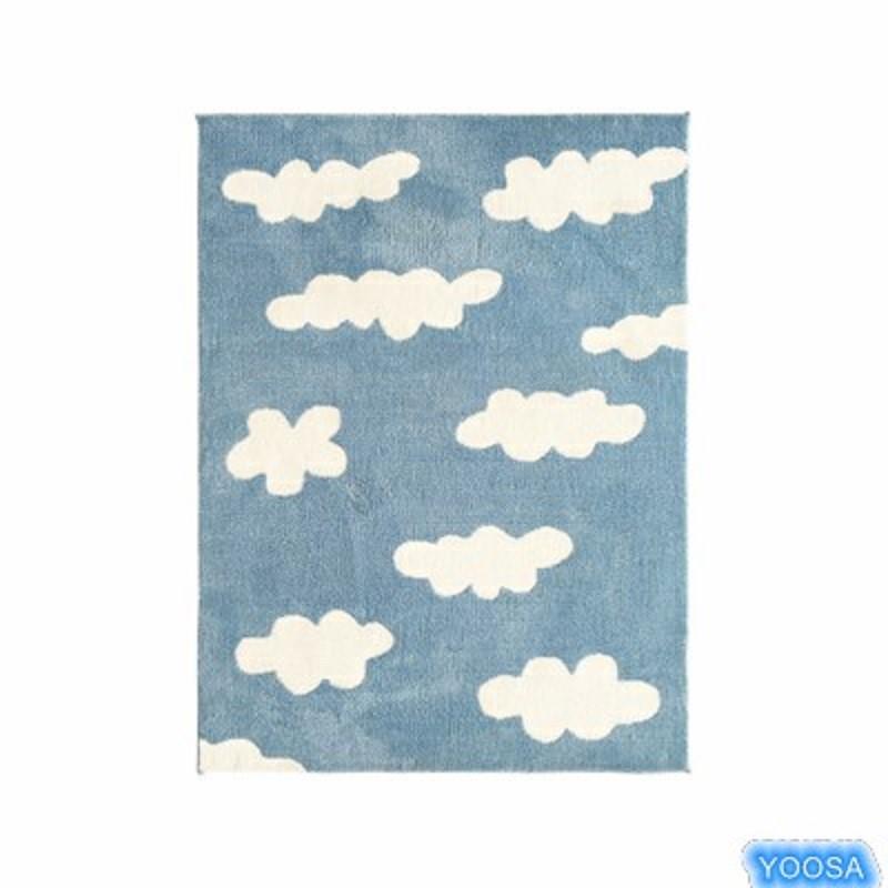 YOOSA Синий четырехслойный 80см × 120CM цзяннань лист коврики сплетенный 50 80см синий нескользящие коврики