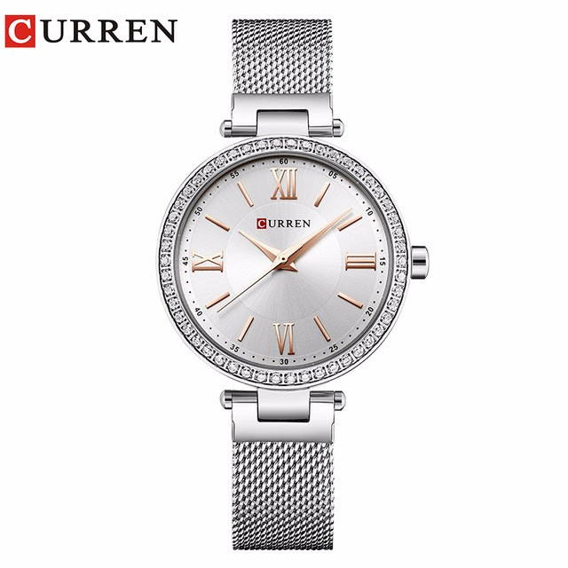 Фото - CURREN 01 guanqin gq17001 watches women luxury lady quartz watch ladies fashion casual clock ceramic bracelet wristwatch relogio feminino