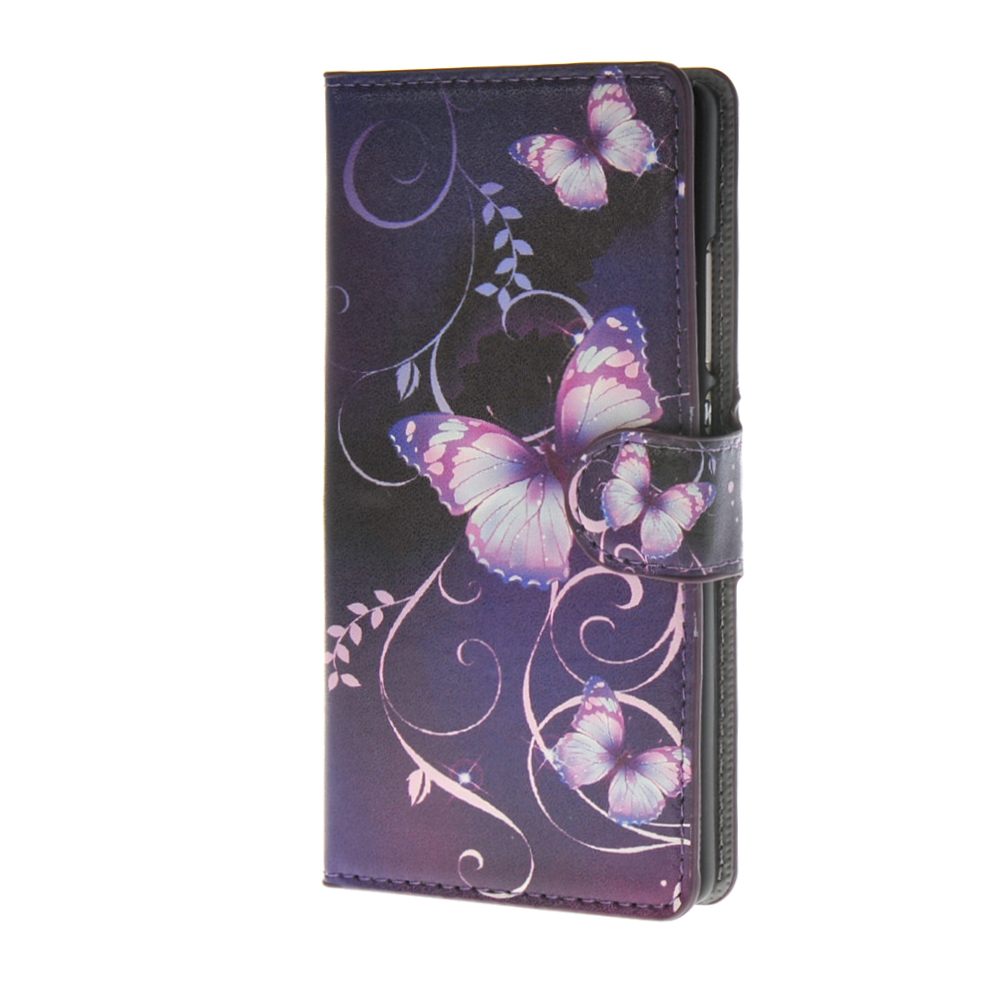 MOONCASE mooncase slim leather side flip wallet card slot pouch with kickstand shell back чехол для huawei ascend g7 purple