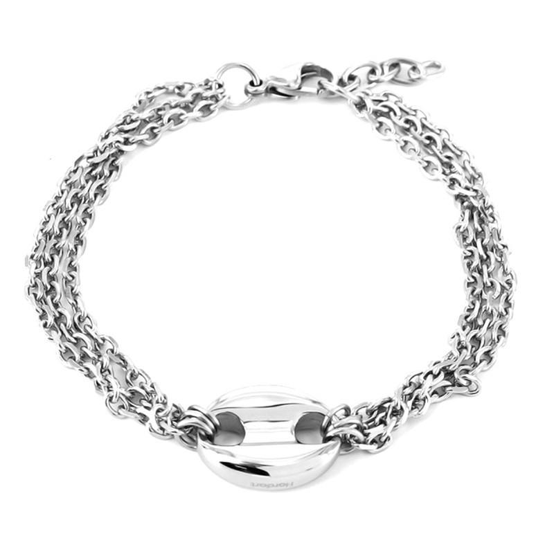 Hardart Серебристый цвет u7 широкий браслет часов реального позолоченные моды мужчин украшения оптовой новой модной уникальный 1 5 см 20 см звено цепи браслеты