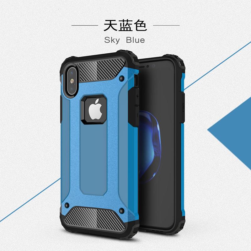 goowiiz синий iPhone X skid proof drop proof tpu bumper with pc back panel for iphone 7 black