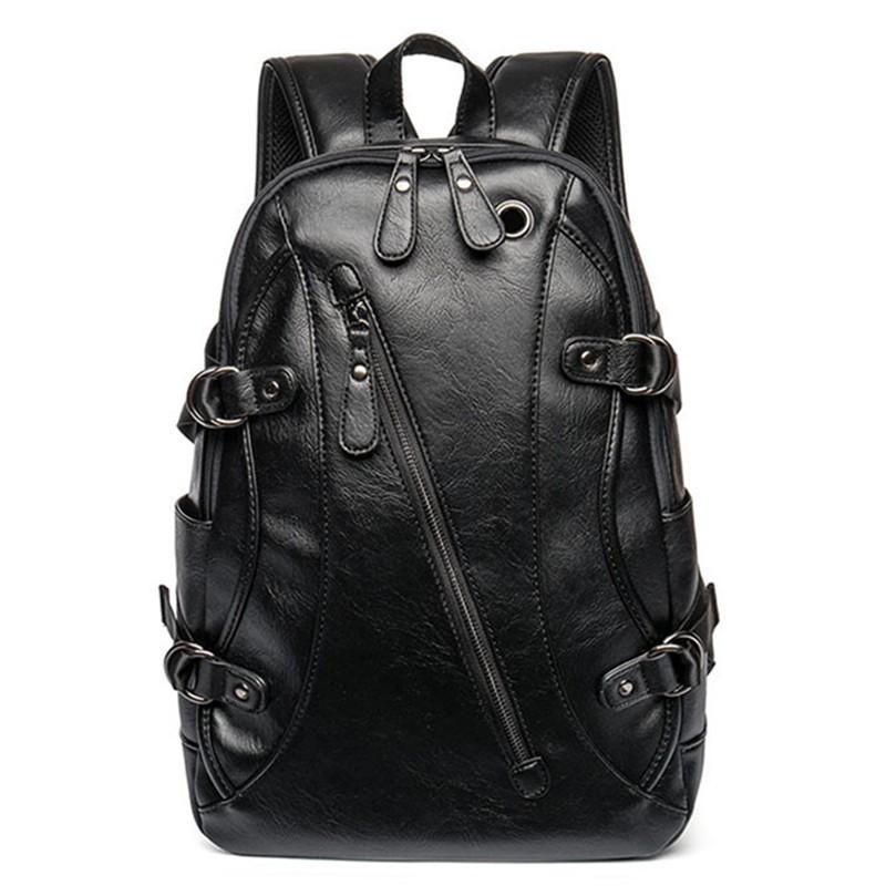 Earth tell черный новые мужские кожаные рюкзаки мягкие рюкзаки бизнес daypack рюкзак сумки