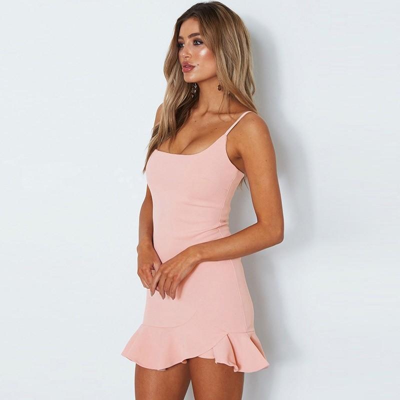 Jiesenlang розовый M женское платье a line slim dresses girls ladies shealth dress для live show party dancing