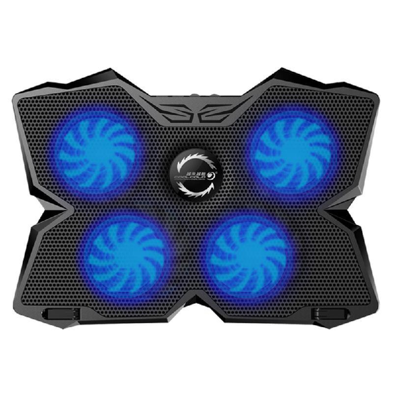 Netac Синий notebook cooling pad blue led laptop cooler 5 fans 2 usb port stand pad for laptop 10 17 pc usb cooler for notebook usb cord