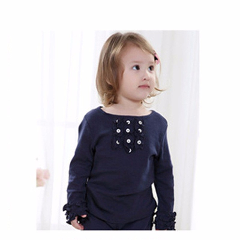 sunveno Blue 6M new stylish baby girl toddler long sleeve sweat shirt letter printed tops striped pants trousers outfits clothing 2pcs set 6m 4t