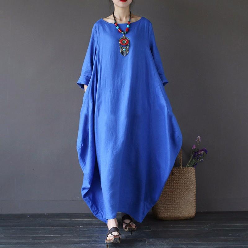 Платье платья шикарное платье женщин летнее платье SAKAZY синий 5XL фото