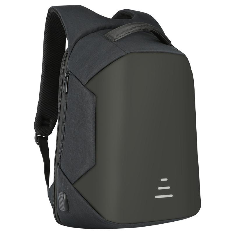 Мужские рюкзаки Противоугонные Водонепроницаемый USB Зарядка Дизайн Ноутбук Рюкзак CAROLING ANGEL Black 32 20 49см фото