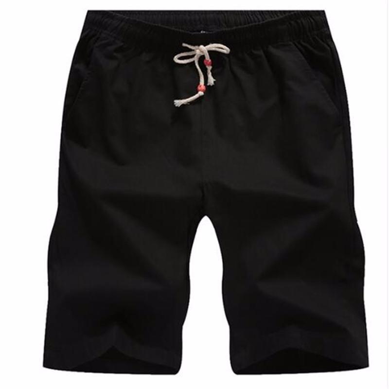 AILOOGE черный L shengui дворянские дорогие мужские летние льняные дышащие случайные шорты голубой l hwddk606