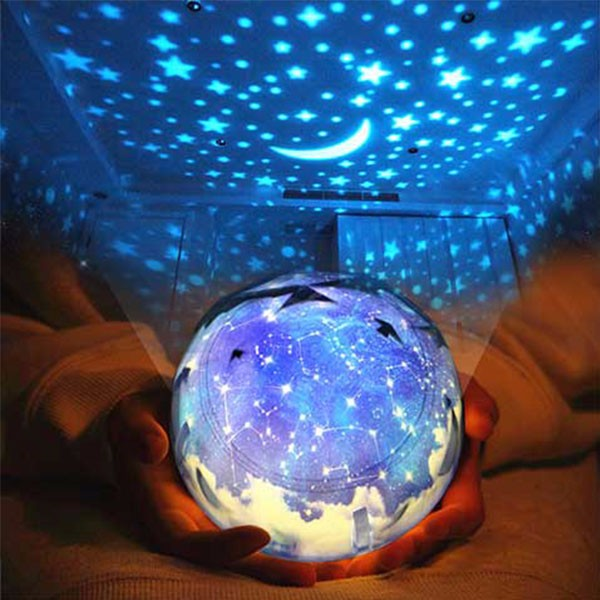 LIGHTMATES Constellation Rotatable 0-5W itimo usb lamp for baby children universe starry star moon rotation projector led night light novelty lamp birthday gift magic