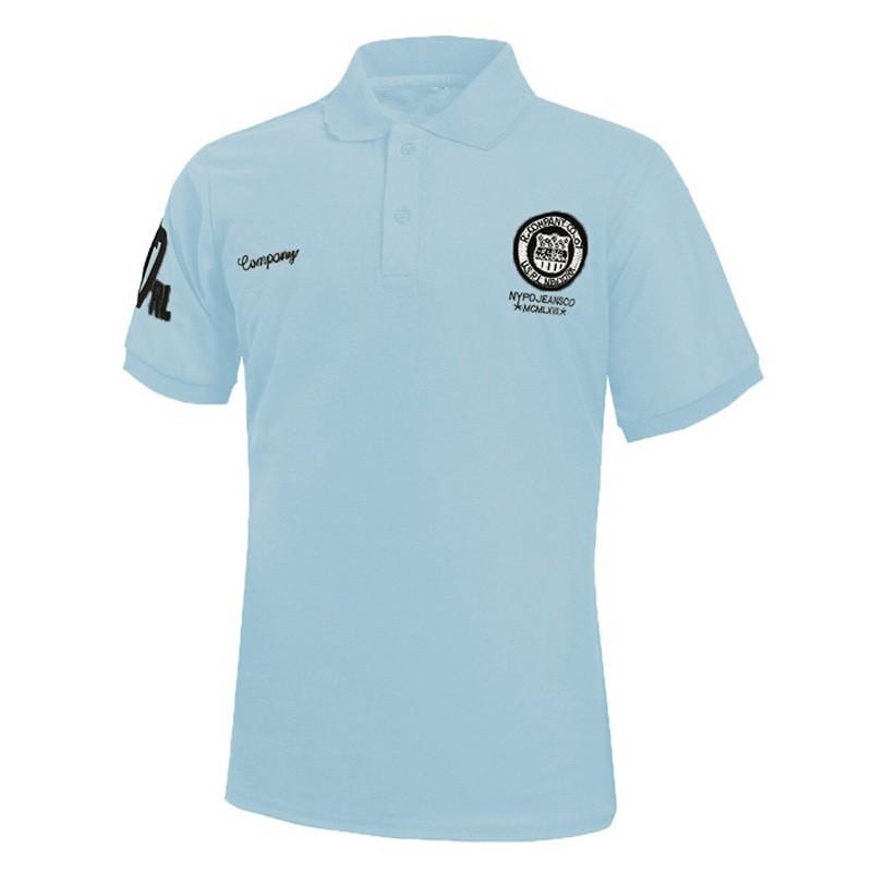 Рубашки поло T рубашки Модные короткие рукава Топы Рубашки поло Мужская личность Xuanxuan diary Blue 4XL фото