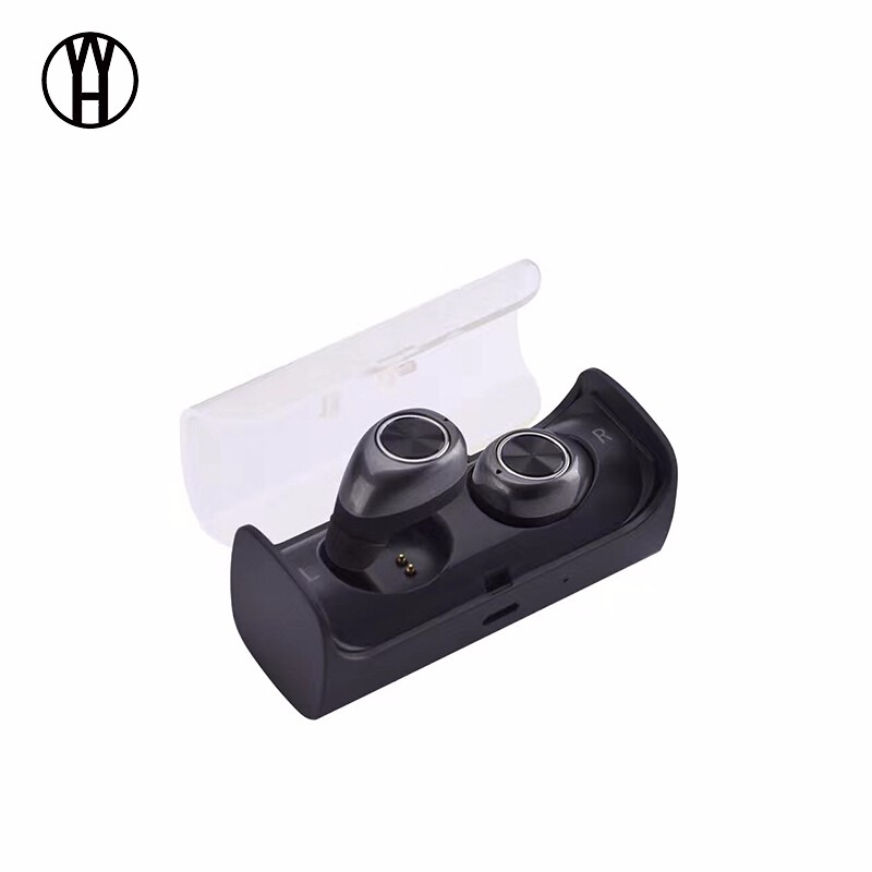 WH Темно-серый браги даш двойной беспроводной bluetooth гарнитуры спортивные наушники монитор сердечного ритма смарт встроенный 4g памяти ear black
