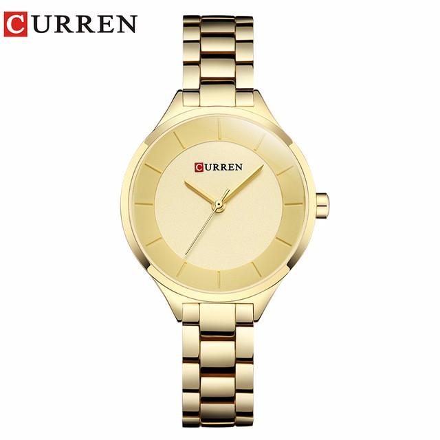 CURREN 06 curren 9015 watch women casual fashion quartz wristwatches ladies gift creative surface relogio feminino rose blue