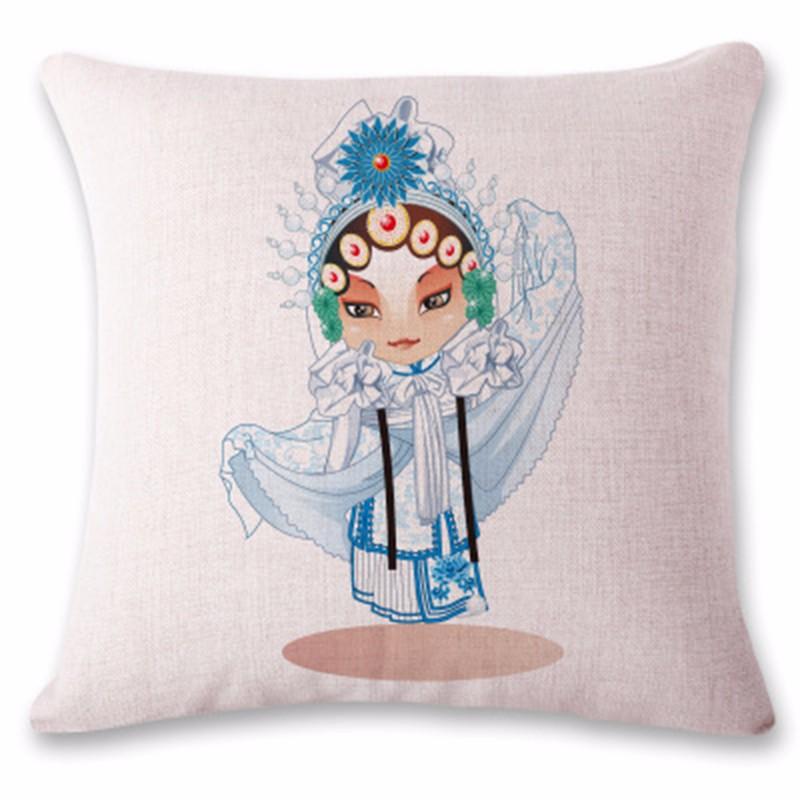 kangfeng Серебристый цвет и золотой цвет snowman cartoon christmas cushion throw pillow case