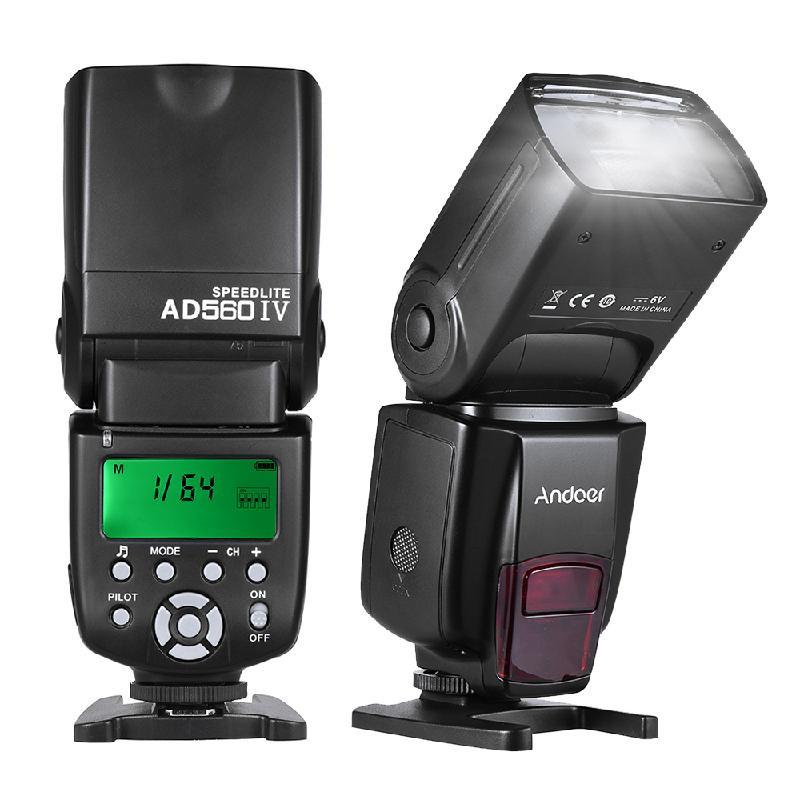 ANDOER черный yongnuo yn560 iv yn560iv wireless master slave flash speedlite for canon nikon pentax olympus fujifilm panasonic dslr cameras
