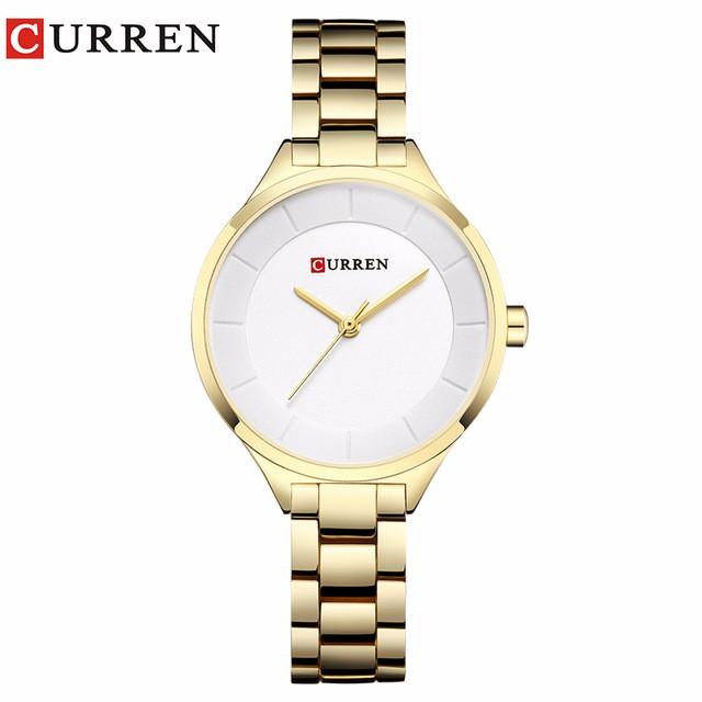 CURREN 07 curren 9015 watch women casual fashion quartz wristwatches ladies gift creative surface relogio feminino rose blue