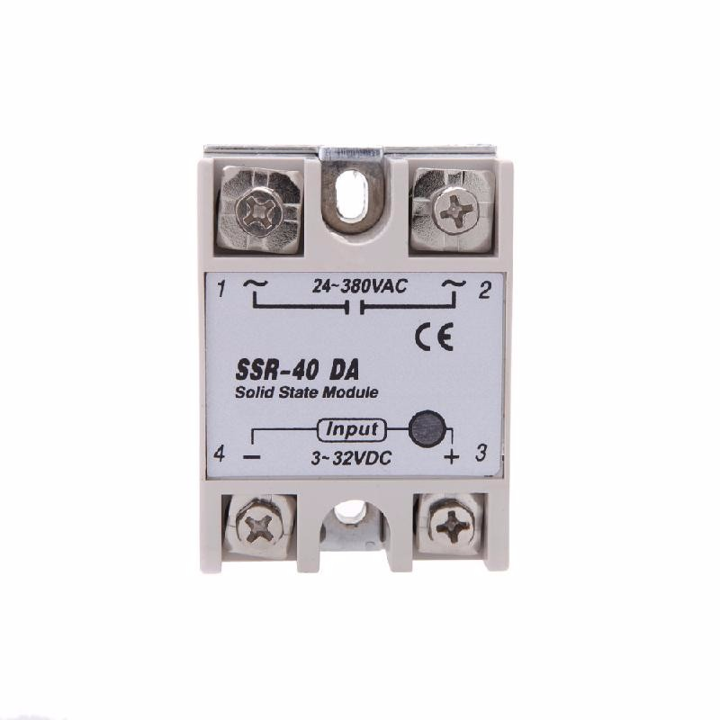 koogeek free shipping ssr 100da 100a rele estado solido 100a dc ac 3 32v dc to 24 480v ac solid state relays switches single phase ssr